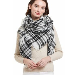 Accessories - Classic Plaid Blanket Oversized Cozy Shawl Scarf